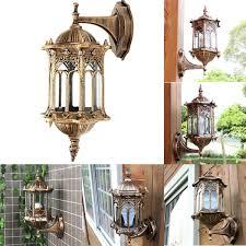 Antique Outdoor Lights by Outdoor Bronze Antique Exterior Wall Light Fixture Aluminum Glass