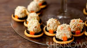 pilgrim thanksgiving recipes chicken salad pilgrim hats are an adorable healthy snack