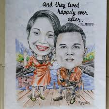 wedding gift jakarta caricature karikatur wedding gift anniversary birthday