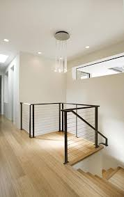 metal landing banister and railing modern stair railing staircase contemporary with balcony bamboo