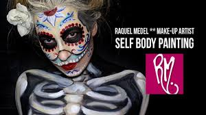 body painting halloween costumes raquel medel make up artist self body painting youtube