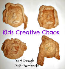 how to make salt dough recipe self portrait ornaments