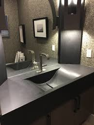 Laundry Room Sink With Jets by Custom Built Jet Black Concrete Bathroom Vanity With An Integrated