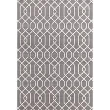 Modern Trellis Rug Modern Trellis Pattern Gray 7 Ft 6 In X 9 Ft 5 In Area Rug