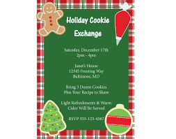 cookie exchange invite free printable invitation design