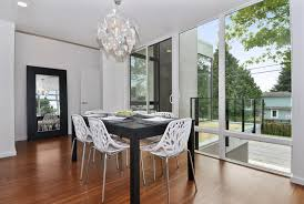 Modern White Dining Room Dining Room White Dining Chair Made Of Faux Leather And Silver