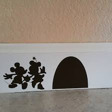 battoo mouse couple with their mouse house wall decal mouse hole