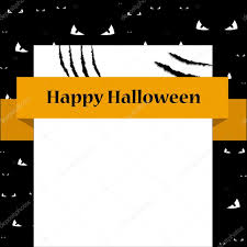 chalkboard halloween cat clear background bank sign card with scratches halloween template brochure flyer