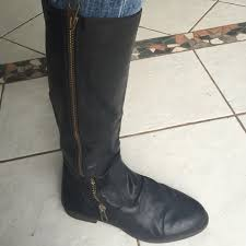 target womens boots black 84 target shoes target black leather boots 11 zip from