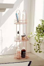 minimal rose gold standing bathroom storage rack urban outfitters