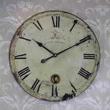 bed u0026 bath oversized vintage wall clock for exotic wall clock