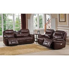 Leather Power Reclining Sofa Sanford Leather Power Reclining Sofa And Loveseat Set With Power