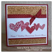 flower sparkle hearts 1st wedding anniversary card