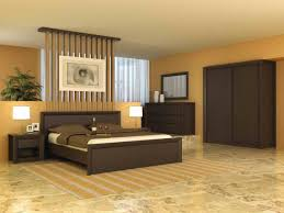 interior stuning brown bedcover on modern bedroom design java