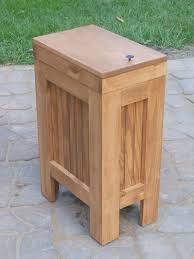 revashelf double pullout top mount wood and silver waste container