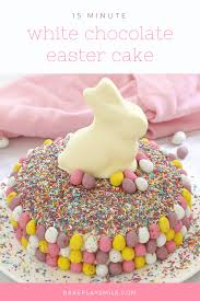 easy white chocolate easter cake 15 minutes chocolate mud