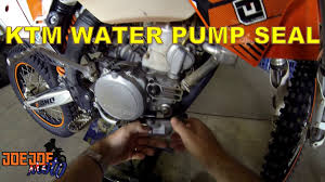 how to replace the water pump seal on ktm youtube