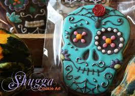 halloween sugar skull cookies youtube