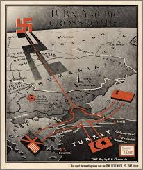 Ww2 Map Turkey At The Crossroads Published In Time Magazine 1943 Ww2