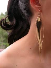 one feather earring 20 most amazing feather earrings for this season feathers