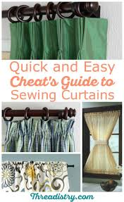 468 best sewing tips images on pinterest sewing ideas sewing cheat s guide for how to sew curtains quickly