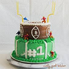football cake curly girl kitchen a football cake for birthday