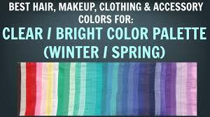 clear winter u0026 clear spring color palette best hair makeup