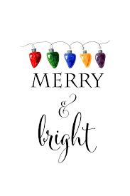 merry and bright free christmas printable christmas watercolor