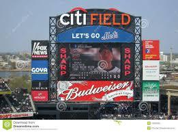 Citi Field Map Citi Field Scoreboard Editorial Photography Image 13825582
