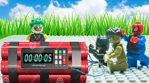 superheroes lego spiderman vs power rangers nerf guns joker