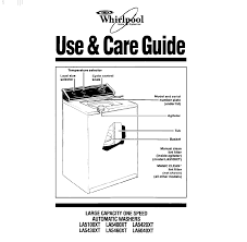 whirlpool washer la5400xt user guide manualsonline com