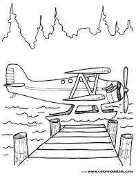 water plane coloring picture create a printout or activity