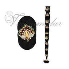 bharatanatyam hair accessories 9 pieces billai braid delicate stones hair jewelry bharatanatyam