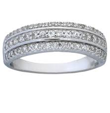 White Gold Cz Wedding Rings by 1 Carat Cubic Zirconia Wedding Ring Band For Women In Sterling