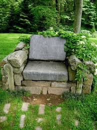 rocky stone for garden seating idea enchanting garden seating
