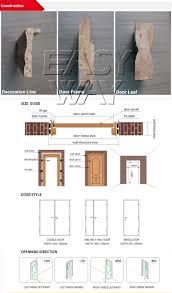 double door sizes interior factory price modern design solid wooden doors for interior room