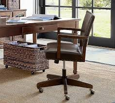 Writing Desk With Chair Manchester Swivel Desk Chair Pottery Barn