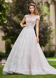 fairytale inspired wedding dresses lace tulle wedding ballgown with cap sleeves 118261a operetta