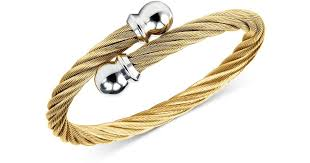 stainless steel gold plated bracelet images Lyst charriol unisex celtic twisted cable bracelet in gold jpeg