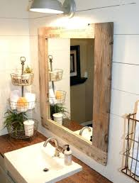 Wooden Bathroom Mirror Reclaimed Wood Bathroom Mirror Wonderful Mirrors No Frame