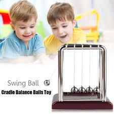 Swinging Desk Balls Newtons Cradle Ebay