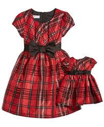 bonnie jean 2 pc plaid dress doll dress set toddler 2t