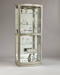 Curio Cabinet With Glass Doors Pulaski Platinum Glass Door Curio Cabinet 21396