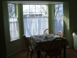 cafe curtains for kitchen bay window home design ideas