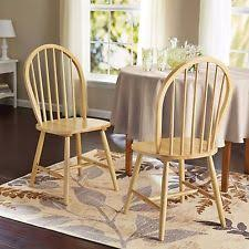 windsor chair set of 2 kitchen chairs oak solid wood dining room