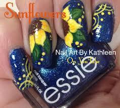 best 25 sunflower nail art ideas on pinterest sunflower nails