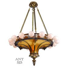 large ceiling chandeliers bare bulb large antique 17 light ceiling chandelier with mica