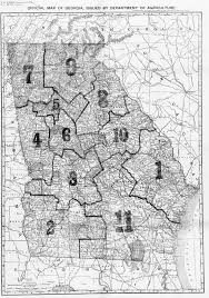 Map Of Florida And Georgia by Ga Historical County Lines