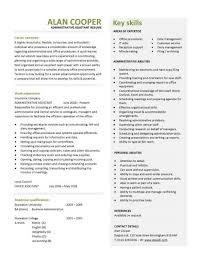 assistant resume template free administrative assistant description for resume template