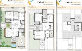 Bungalow Ground Floor Plan by Galaxy Paras Bungalows By Galaxy Group In Nava Naroda Ahmedabad
